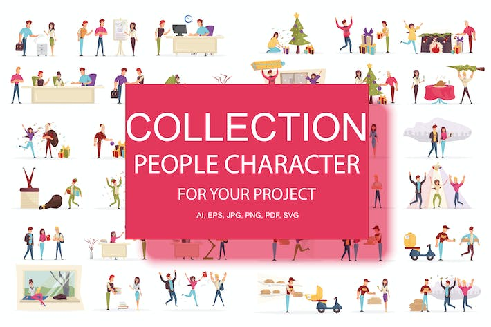 Thumbnail for BIG Collection Cartoon People Character
