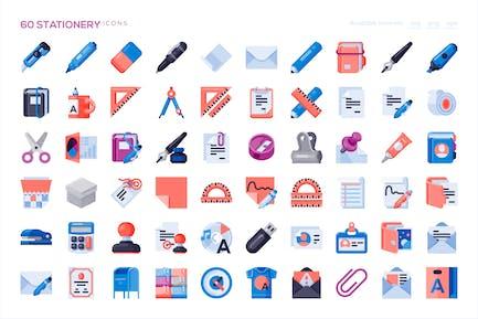 60 Stationery Icons
