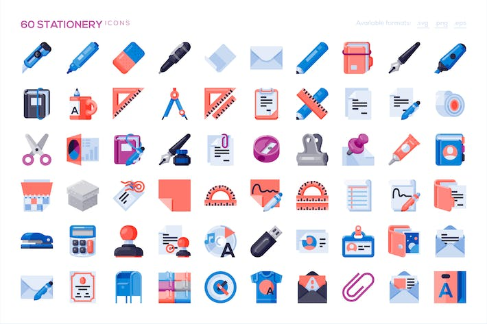 Thumbnail for 60 Stationery Icons