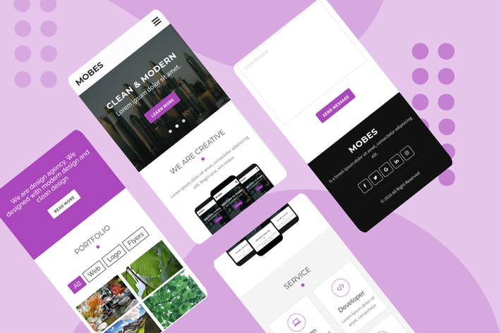 Thumbnail for Mobes - Multipurpose Mobile Template