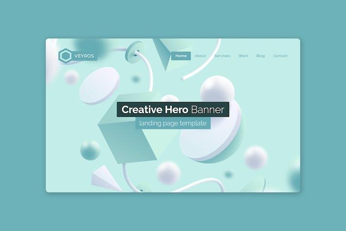 Thumbnail for Veyros - Hero Banner Template