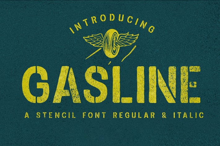 Thumbnail for Gasline Font