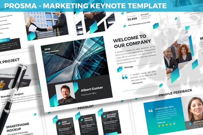 Thumbnail for Prosma - Marketing Keynote Template