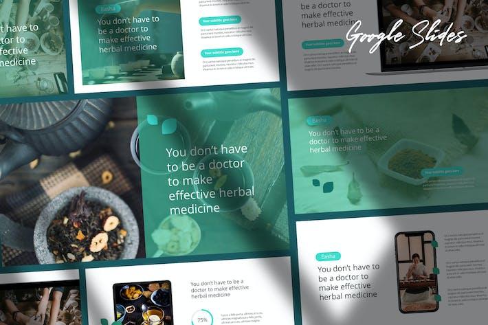 Thumbnail for Easha - Medical & Herbs Google Slides Template