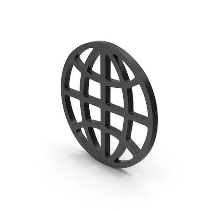 Символ Web черный