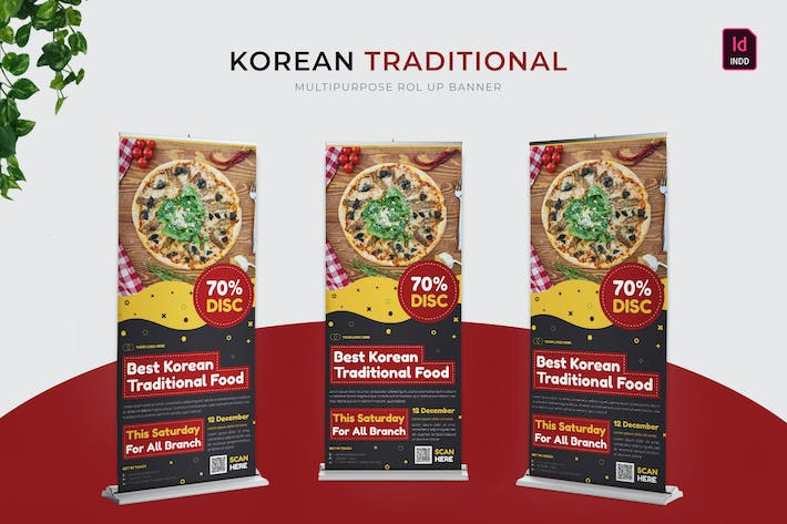 Korean Traditional | Roll Up Banner