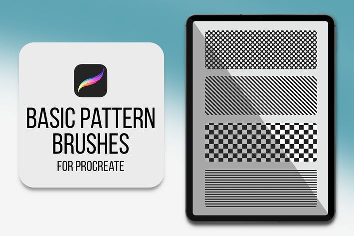 Procreate Pattern Brushes - Basic Pattern