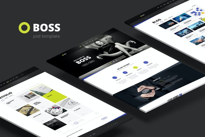 Thumbnail for Boss — Multi-Purpose Business PSD Template