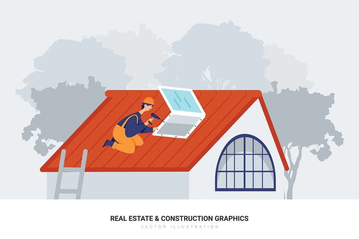 Thumbnail for Construction workers working on a house