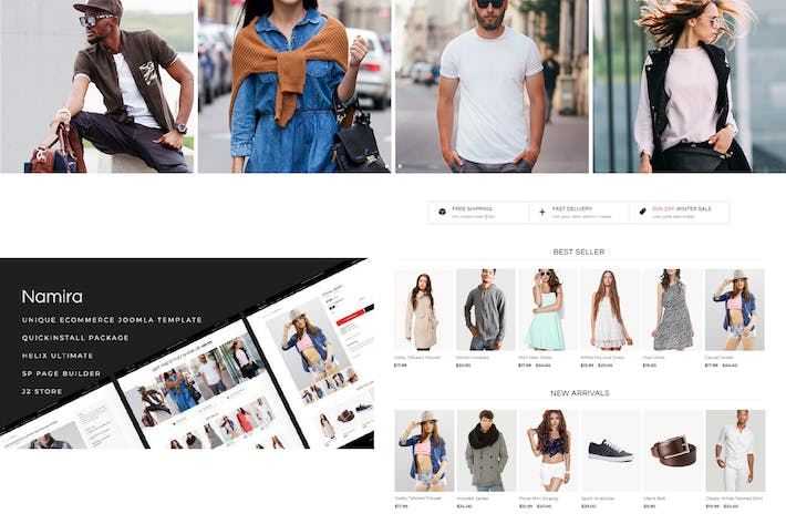 Thumbnail for Namira - Unique eCommerce J2Store Joomla Modèle