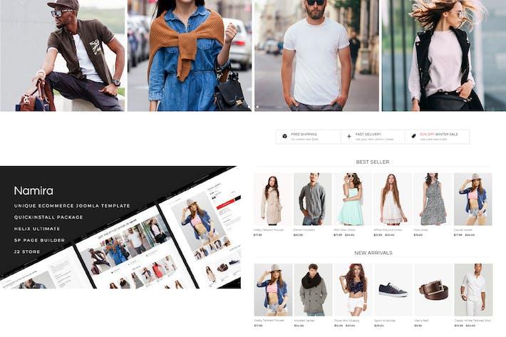 Thumbnail for Namira - Único eCommerce J2Store Plantilla Joomla