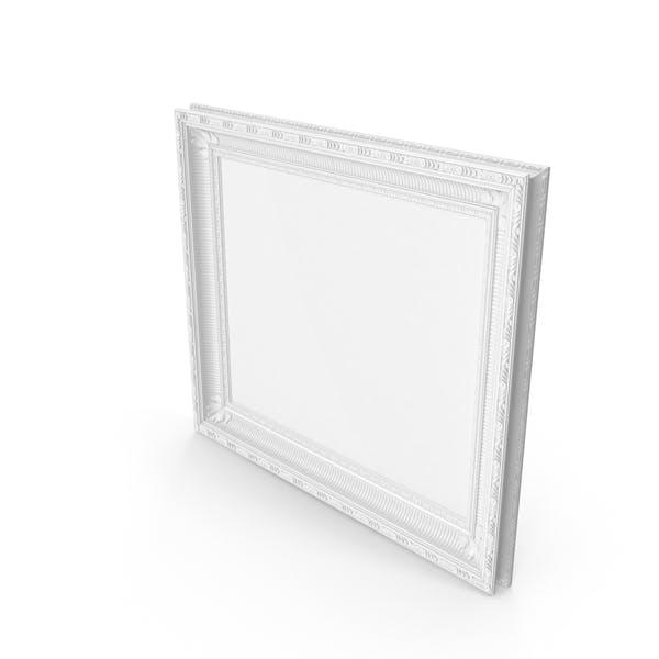White Baroque Picture Frame