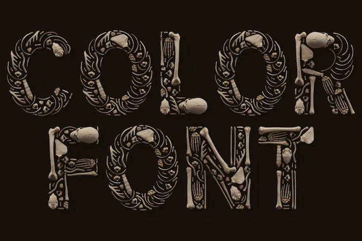 Skulls - Color SVG Font