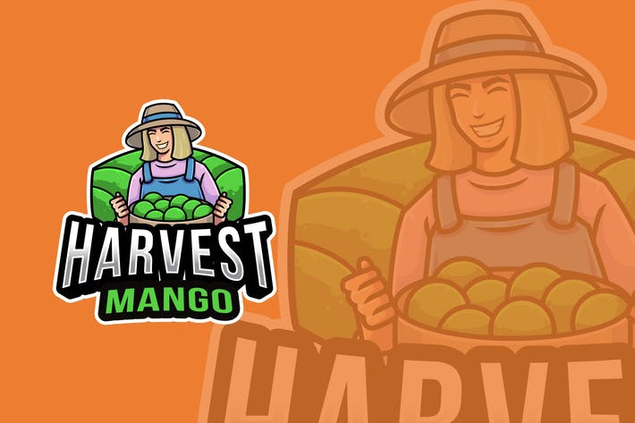 Thumbnail for Harvest Mango Logo Template
