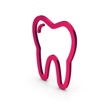 Symbol Tooth Metallic