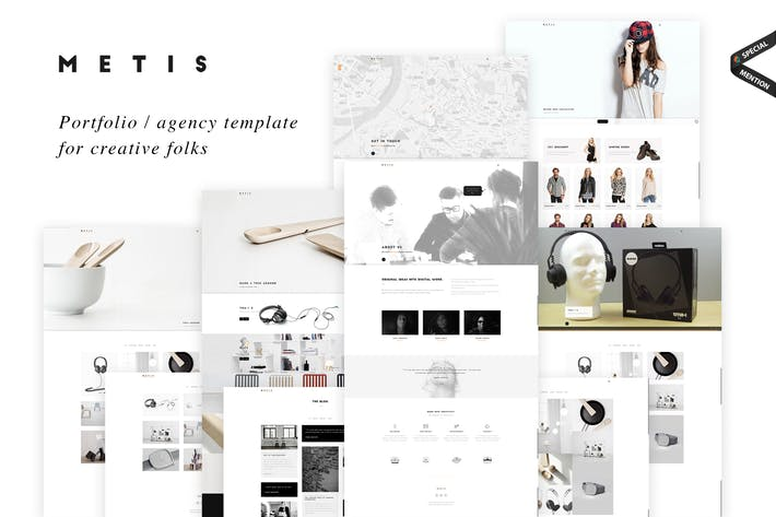 Cover Image For Metis - Creative Portfolio / Agency Template