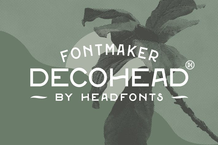 Thumbnail for Decohead Typeface| Art Deco Font