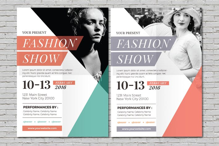 Cover Image For Fashion Show Flyer