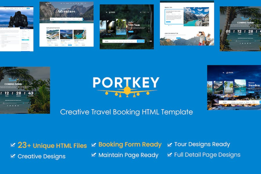 PortKey - Tour Travel Booking HTML5 Template