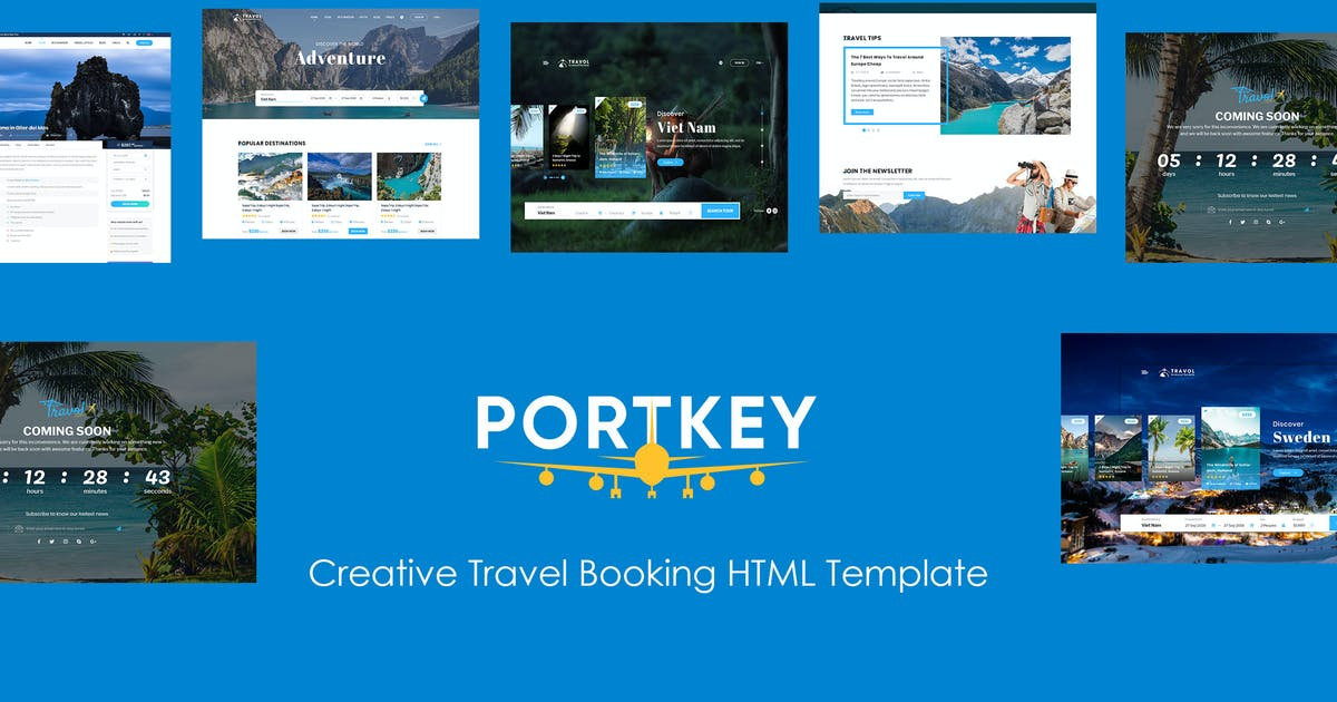 Download PortKey - Tour Travel Booking HTML5 Template by magentech