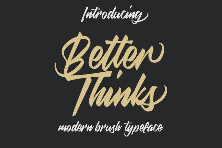 Thumbnail for Better Thinks Typeface
