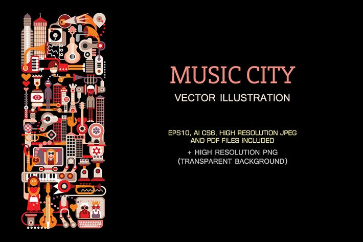 Thumbnail for Music City vector illustration