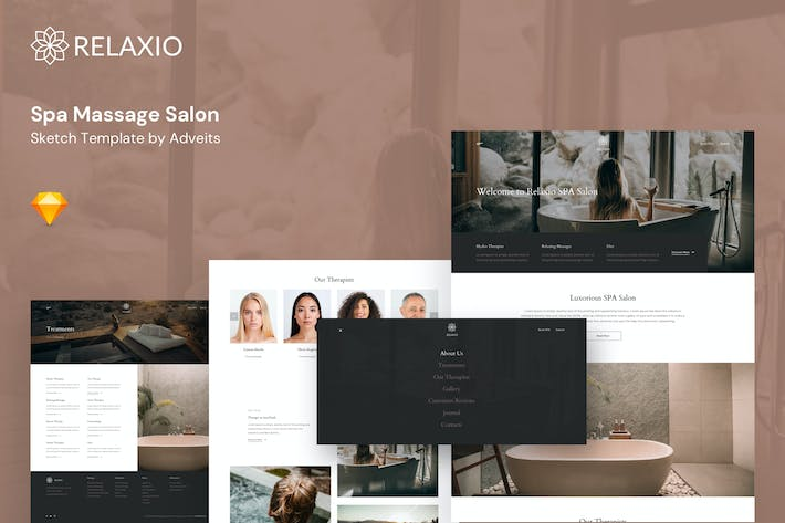 Thumbnail for Relaxio - Spa Massage Salon Sketch Template