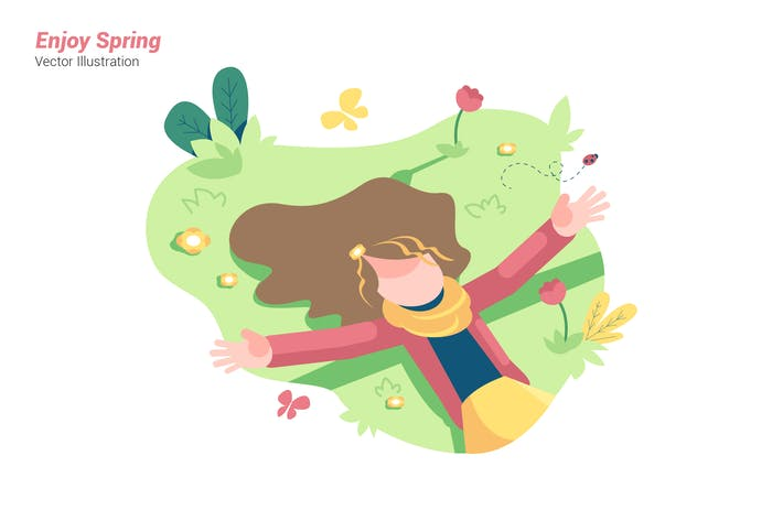 Thumbnail for Enjoy Spring - Vector Illustration