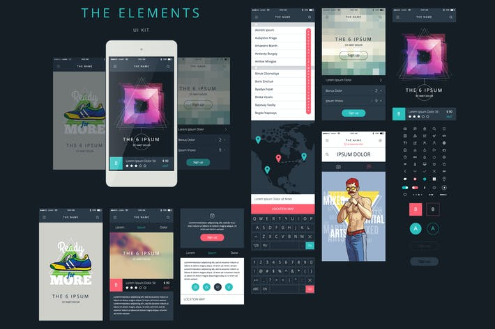 Thumbnail for Vector Phone GUI Template. Wireframe UI Kit.