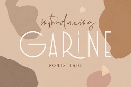 Garine Art Deco Display Fonts Trio