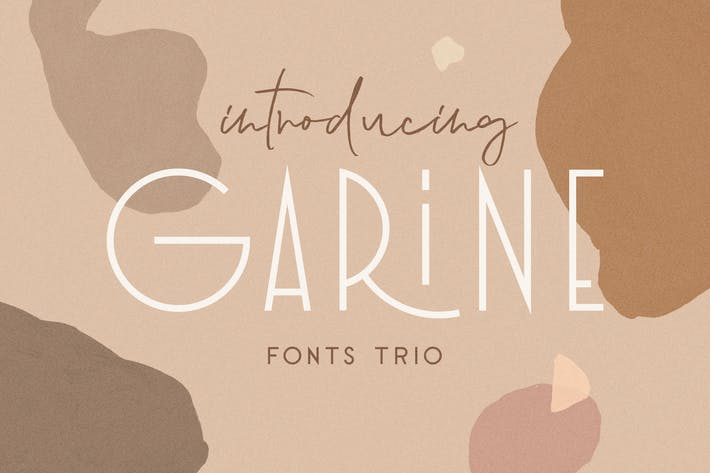 Thumbnail for Garine Art Deco Display Fonts Trio