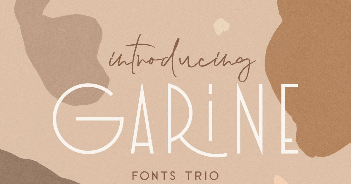 Download Garine Art Deco Display Fonts Trio by Kavoon