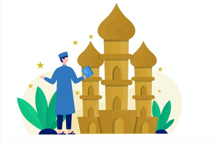 Thumbnail for Ramadan Concept Flat Vector Illustration