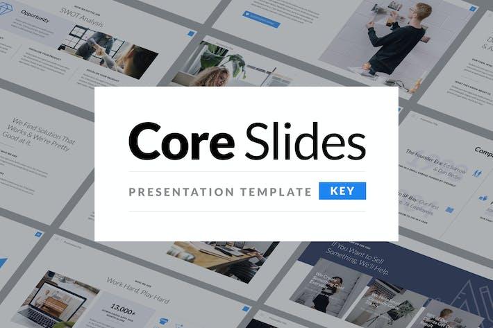 Thumbnail for Основные слайды - простой Шаблон презентации