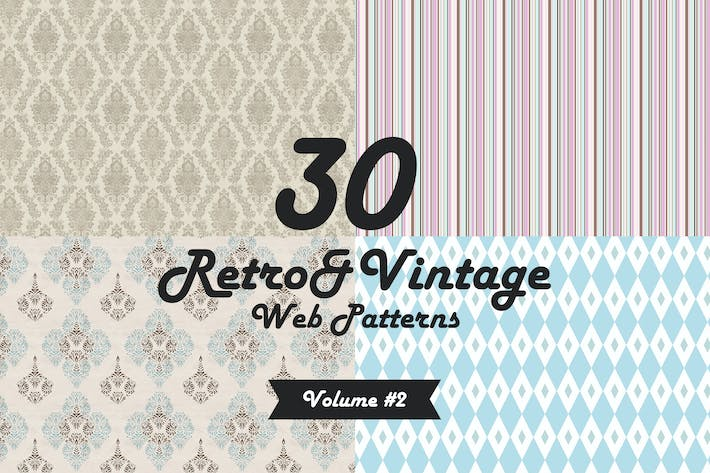 Thumbnail for 30 Retro&Vintage Patterns Vol2