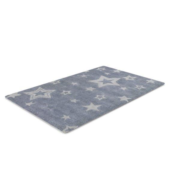 Blaue Sterne Teppich