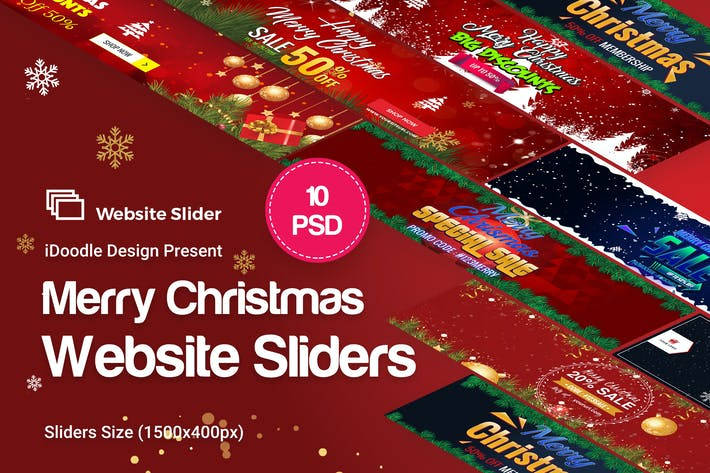 Thumbnail for Merry Christmas Website Sliders
