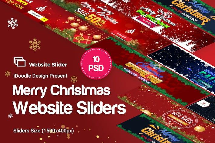 Merry Christmas Website Sliders