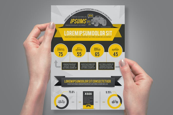 Thumbnail for Vehicle Infographics Template