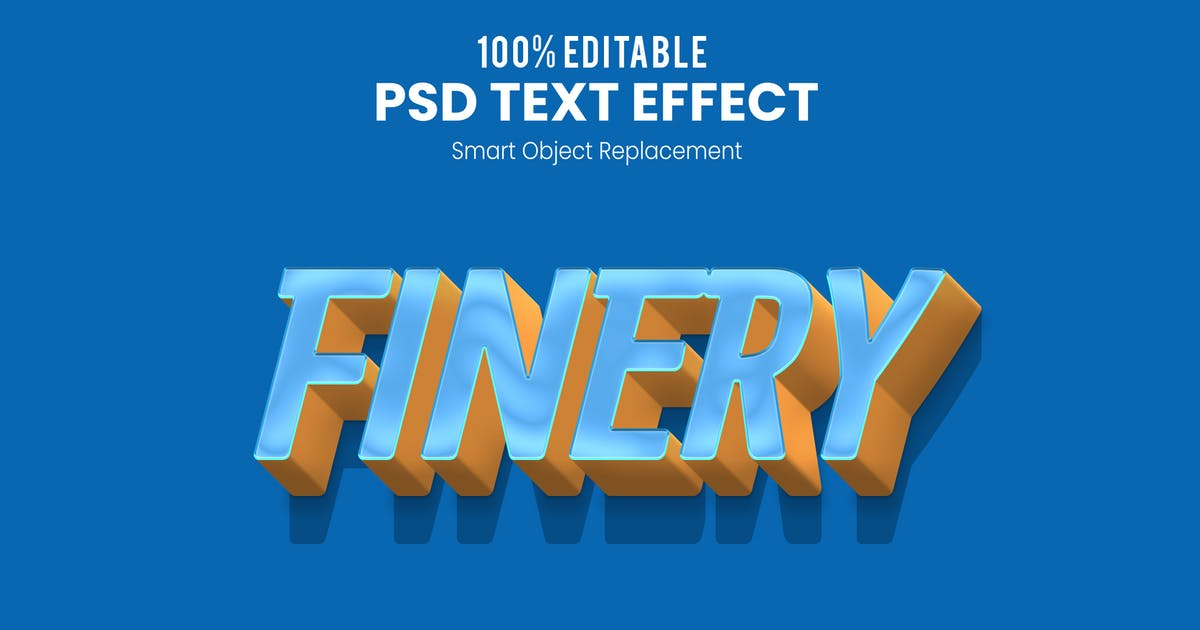 Download FINERY - 3D Text Effect PSD by nathatype