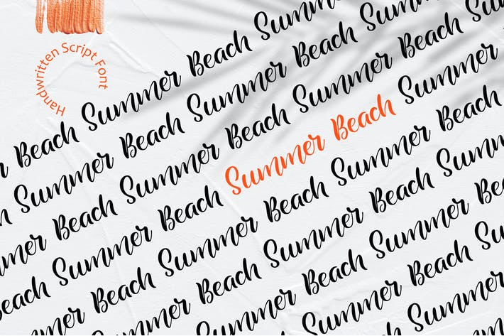Thumbnail for Summer Beach Handwritting Font