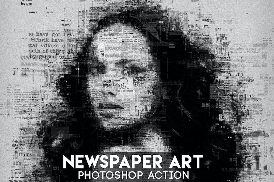 Newspaper Art Photoshop Action