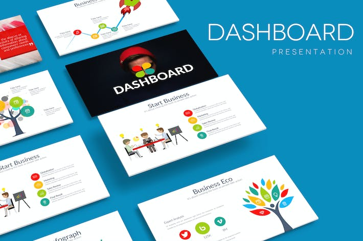 Thumbnail for DASHBOARD Powerpoint Template