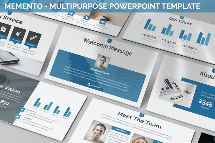 Thumbnail for Memento - Multipurpose Powerpoint Template