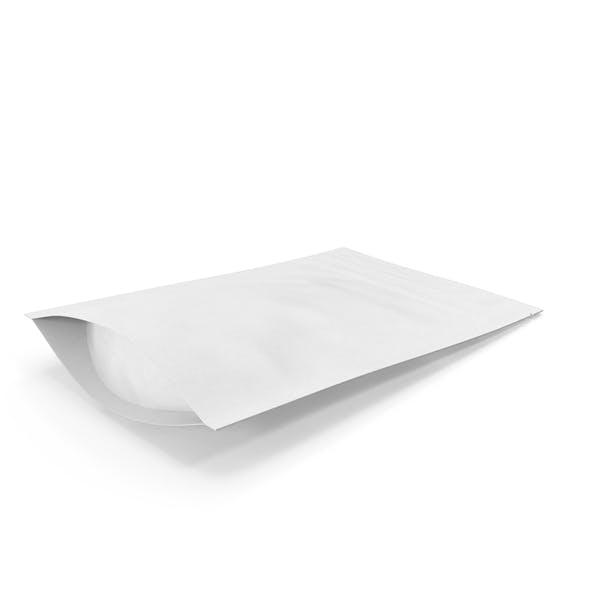 Zipper White Paper Bag 50g
