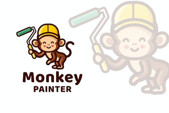 Thumbnail for Monkey Painter Cute Logo Template