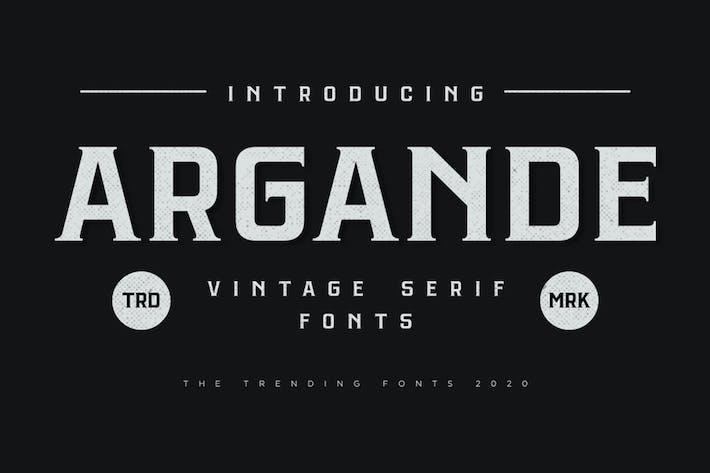 Argande - Fuente Con serifa Vintage