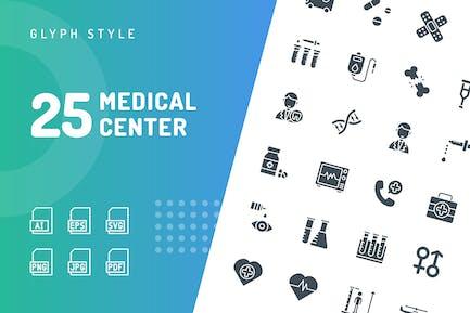 Medical Center Glyphe Icons