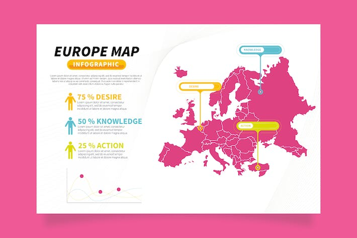 Europe Map Infographic Template Ver 03