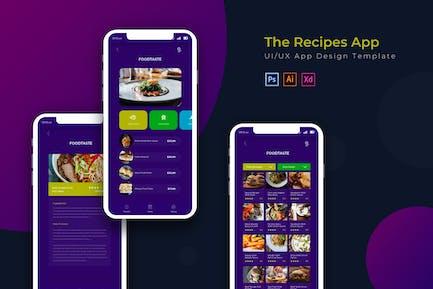 FoodtasteRecipes | App Design Template